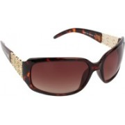 Scavin Rectangular Sunglasses(Brown)