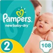 Pampers New Baby Dry Maat 2 - 108 Luiers