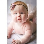 EJA Art Cute baby pink bow Without Frame Paper Poster Size 30X45 cms (With 12 Butterfly Free)