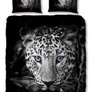 Parure de couette microfibre 220x240 cm Leopard Black