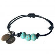 Simbi Pipeline Beaded Bracelet Turquoise