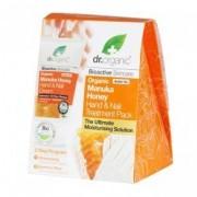 Dr. Organic manuka mézes kéz- és körömápoló hidratáló kezelés ajándék kesztyűvel - 125 ml