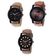 Danzen combo of Three men's Watches dz-444-445-446