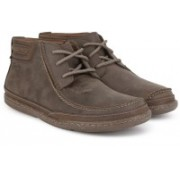 Clarks Trapell Top Dark Brown Lea Boots For Men(Brown)