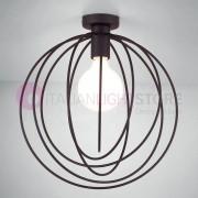 Lam Export Morgana Lampada A Soffitto Gabbia Tonda Design Moderno Vintage
