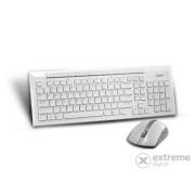 Tastatura wireless Rapoo 8200P si mouse, alb