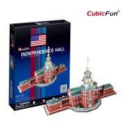 Cubicfun Independence Hall SUA Puzzle 3D 43 de piese