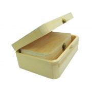 Set doua cutii din lemn cu colturi rotunjite