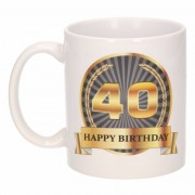 Bellatio Decorations 40e verjaardag cadeau beker / mok 300 ml