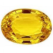 Yellow Sapphire Stone Certified Loose Precious Pukhraj Gemstone 8.25 Ratti