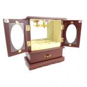 Caseta de bijuterii dulapior cu usi cuier sertar si oglinda