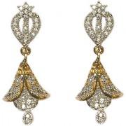 Pourni exclusive Designer American Diamond Jhumka Earring -PRER105