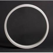 Dala Dörren Dekorfönster Rund invändigt 684mm, karmdjup 50mm vit enkelglas (7x0)