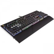 Клавиатура Corsair Gaming, Ultra-Quiet, Backlit Multicolor LED, Cherry MX SILENT (US), CH-9000121-NA