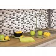 RoomMates wandsticker StickTILES Mozaïek - zwart/wit - 4 stickers 27x27 cm - Leen Bakker