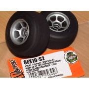 GRP GFX10-S2 F1 Front tyres glued on Silver wheels Pair