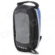 Yanho YAN-02 Bike Polyester + PU tubo superior Bag - Negro + azul