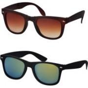 Stysol Wayfarer Sunglasses(Brown, Green)