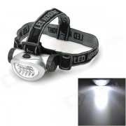 698 al aire libre Senderismo 28lm 4 Modos 8 Head Light LED blanco - plata