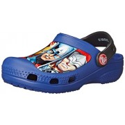 Crocs Kids Unisex CC Marvel Avengers III Clog Cerulean Blue Rubber Clogs and Mules - C8C9