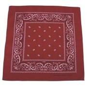Bandana czerwona burgund - bordowa bandama