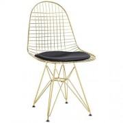 KH Krzesło Net Gold czarna poduszka