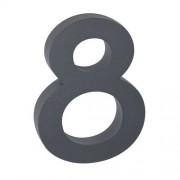 Număr aluminiu de casă 8, suprafață în relief 3D