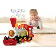 WhoGotThePlan Magic Train Bubble Machine with Music & Lights