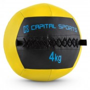 Capital Sports Wallba 4, sárga, 4 kg, wall ball, műbőr (FIT20-Epitomer)