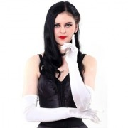 Oshop Trades Full Hand White Gloves for Women - Set of 1 - 24 size