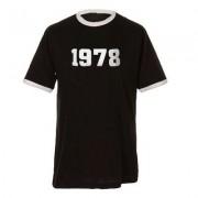 geschenkidee.ch Jahrgangs-Shirt für Erwachsene Schwarz/Weiss, Grösse XL