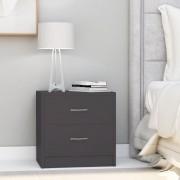 vidaXL Нощни шкафчета, 2 бр, сиви, 40x30x40 см, ПДЧ