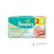 Pampers Natural Clean dječje vlažne maramice 2 x 64 kom
