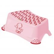 Inaltator pentru baie Little Duck Lulabi, material antiderapant, roz