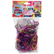 D.I.Y. Do it Yourself Bracelet Zupa Loomi Bandz 600 Rainbow Tie-Dye Rubber Bands with S Clips