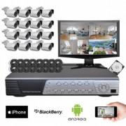 Kit vidéosurveillance Sony 16 caméras HD 700 lignes