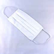 Textil, mosható, 2 rétegű szájmaszk - Fehér