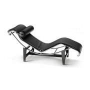 Chaiselongue Mod. Le Corbusier In Pelle Nera