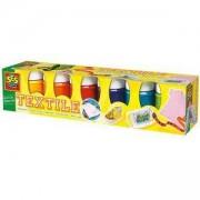 Комплект текстилни бои, 6 цвята, SES, 080930