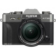 Fujifilm Systemkamera Fujifilm X-T30 XF18-55 mm 26.1 Megapixel Antracit Touch-Screen, Elektronisk sökare, Hopfällbar display, WiFi, Blixtskon, Bluetooth