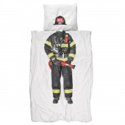 SNURK 'Fire fighter' dekbedhoes - Multicolor - Size: 1