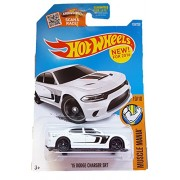 HOT WHEELS MUSCLE MANIA 10/10 WHITE '15 DODGE CHARGER SRT 130/250 SHOWDOWN SCAN & RACE CARD