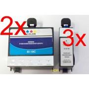 3 Black XL+2 Color XL Tintenpatronen f. Kodak EasyShare 5100 5300 5500 ESP 3 5 7 9 3250 5210 5250 6150 7250 9250 Hero 7.1 9.1 Office Hero 6.1 6150