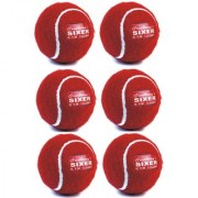 Pack of 6 Pcs Sixer Finest Cricket Tennis Balls for Indoor Outdoor