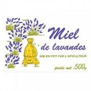 Lubéron Apiculture 2500 étiquettes 'Miel de Lavandes' 500 g (64x40)