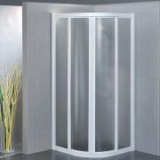 Box doccia semicircolare scorrevole 2951 da 100x80 cm in crilex 3 mm