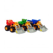 HALO NATION® Friction Powered Construction Vehicle - Set of 3 - Dumper + JCB + Cement Mixer