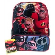 Disney Incredibles 2 Molded Front 16 Backpack Tote One Size 10 L Backpack(Red)