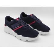 Pantofi sport barbati ,CRONO, U.S. Polo ASSN, piele nat.vel.+tex, bleumarin