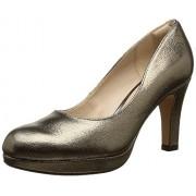 Clarks Women's Crisp Kendra Gun Metal Lea Metallic Leather Sneakers - 7 UK/India (41 EU)